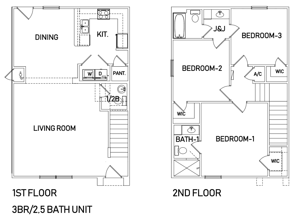 Townhome 3 Bedroom